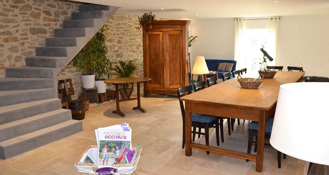 salle commune avec espace détente